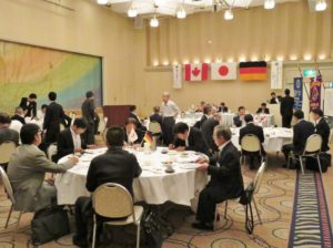 姉妹縁組例会でした ドイツ バーデンバーデンLC 45周年カナダ ハミルトンセントラルLC 38周年日本 神戸東灘マリーンLC 3周年