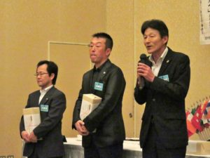 栗山則博さんによるスピーチ