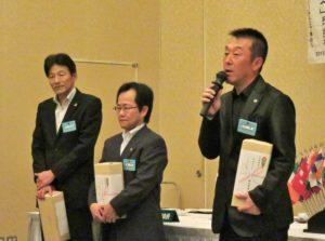 倉田貴さんによるスピーチ