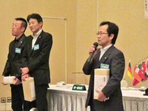 佐藤賢さんによるスピーチ
