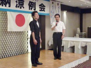 髙田健司地区名誉顧問よりサスケさんへお礼の言葉