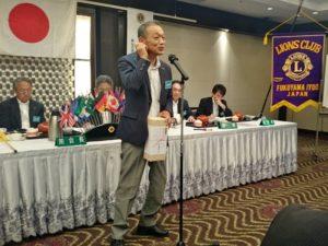 平木累司さんによるスピーチ