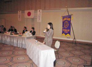 災害復旧ボランティア「てごうし隊」代表 馬場依奈美さんをお招きし 「広島大規模土砂災害における活動報告」をテーマに講演していただきました