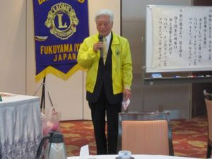 小野昭介 福山ハーネスの会会長よりお礼の言葉を賜りました