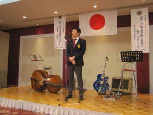 神戸東灘マリーンLCを代表し牧山浩之会長よりご祝辞を賜りました