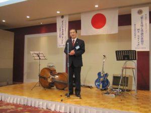 髙田健司地区名誉顧問のご発声による乾杯