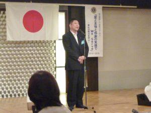 懇親会は山本周造計画大会委員長の挨拶で始まりました
