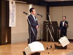 髙田健司地区名誉顧問による乾杯のご発声