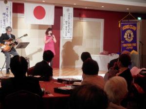 門田信さんのジャズギター&藤原育絵さんのボーカル、そして戸田美佐子さんの脳を活性化するアトラクションもありました。