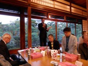 昭和10年頃建造された福寿会館は国の登録有形文化財です。和館大広間で懇親会が始まります。