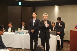 福山ミニバスケット連盟 立神俊文会長へ協賛金の贈呈