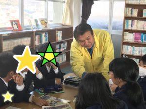 グループディスカッションに参加する箕嶋陽一第一副会長
