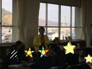 児童からの質問に答える髙田健司地区名誉顧問